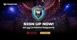 آيسر تطلق بطولة Predator League عبر الإنترنت في الشرق الأوسط بالتعاون مع ESL