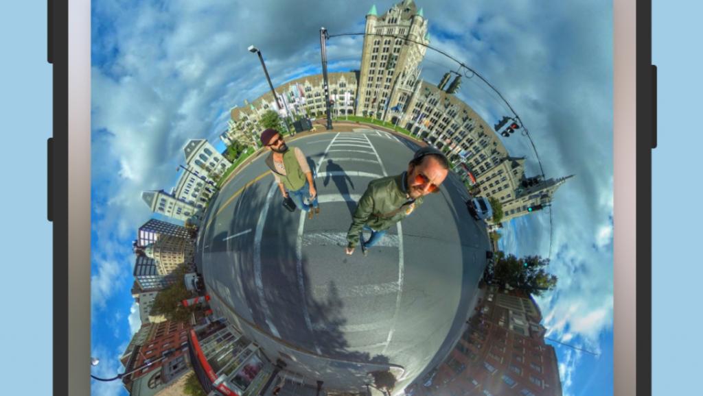 جديد التطبيقات IQUISPIN لتحرير الصور الملتقطة بزاوية 360 ردجة