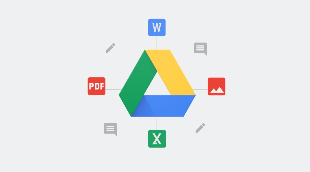 The Google Drive search bar now offers smart suggestions