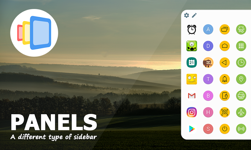 Panels app comes with a customizable multi-tasking sidebar