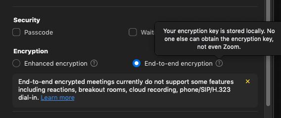 خدمة Zoom تدعم الآن التشفير التام والبث عبر يوتيوب