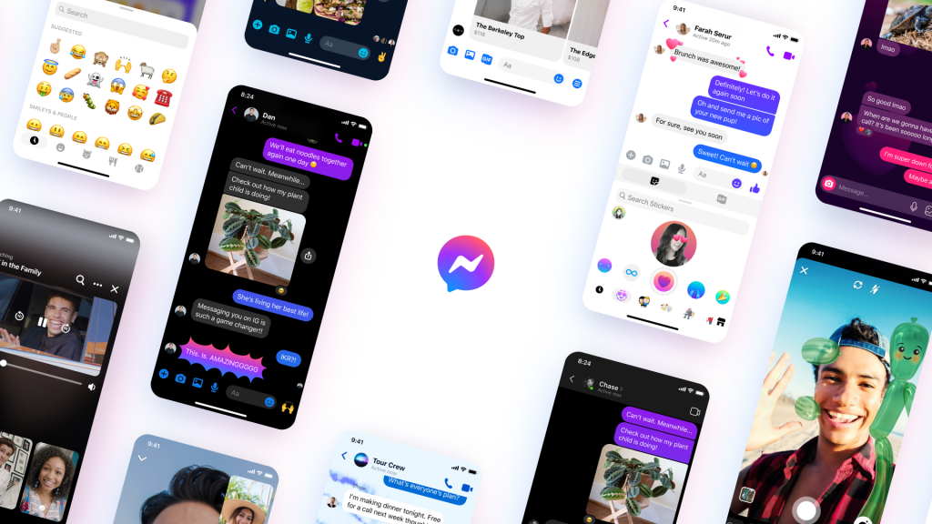 يقوم Facebook بتحديث Messenger بشعار جديد وبعض الميزات
