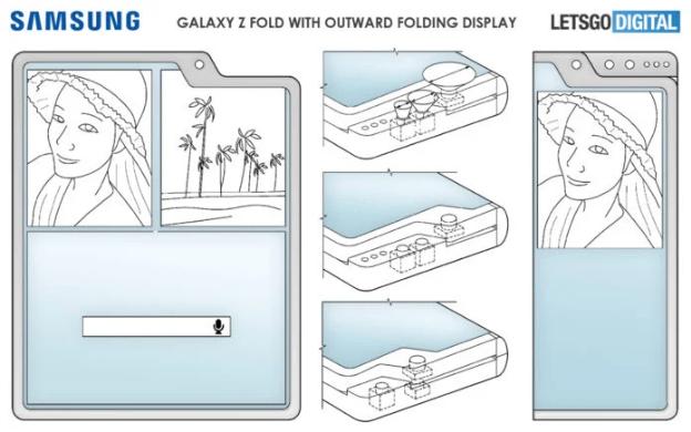 سامسونج تسجل براءة اختراع جديدة لثلاث هواتف قابلة للطي