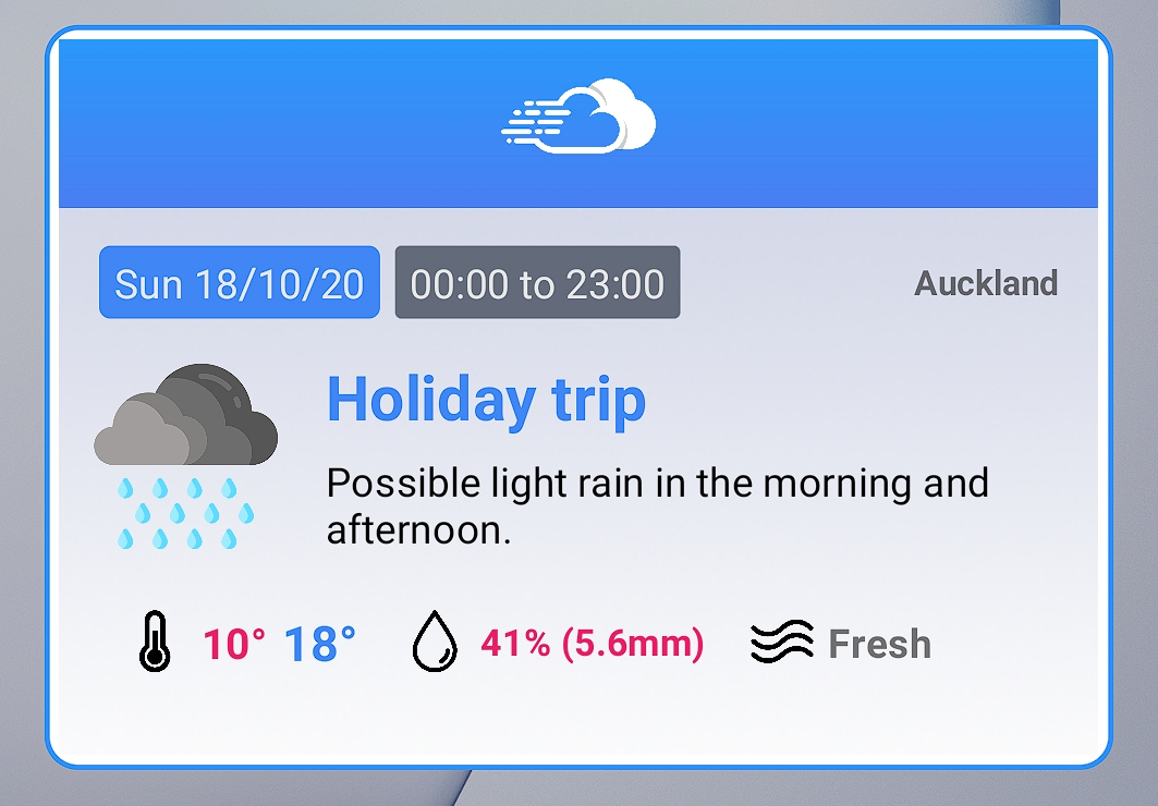 صورة Sky Weatherman تطبيق جديد للطقس متاح فقط على أندرويد
