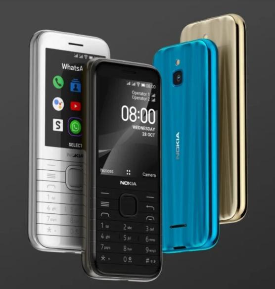 """هاتف كلاسيكي جديد من نوكيا يدعم الجيل الرابع """" 8000 4G"""""""
