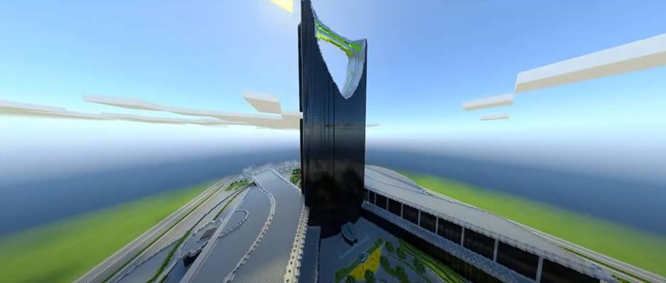 استكشف برج خليفة و برج المملكة في Minecraft RTX على Geforce RTX
