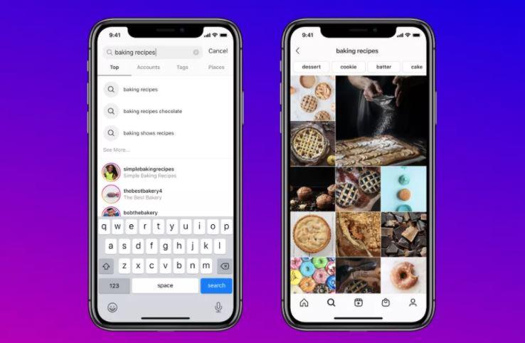 انستجرام تدعم البحث عن المنشورات حسب الكلمة المفتاحية  -  Instagram Keyword Search