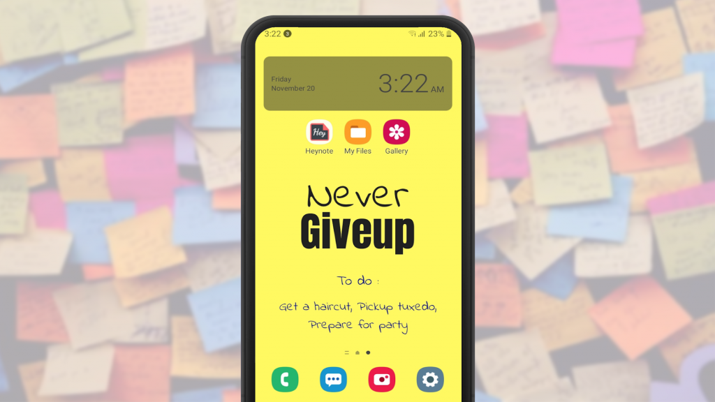 Heynote turns wallpapers into a custom to-do list