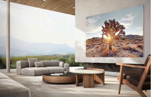 سامسونج تطلق تلفاز 110 بوصة بتقنية MicroLED ودقة عرض 4K