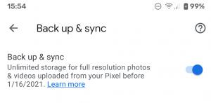 لدى مالكي بكسل 2 يومان لإجراء نسخ مجاني بالجودة الأصلية على صور جوجل