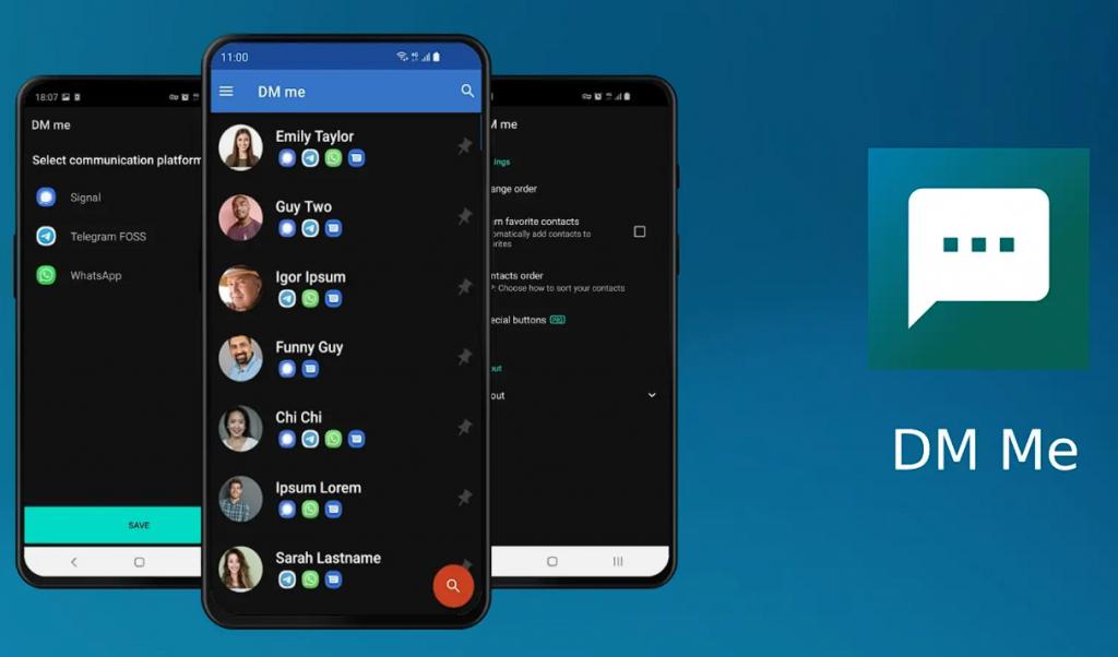 تطبيقات Android DM Me الجديدة لتحديد التطبيق المناسب تلقائيًا لإرسال الرسائل