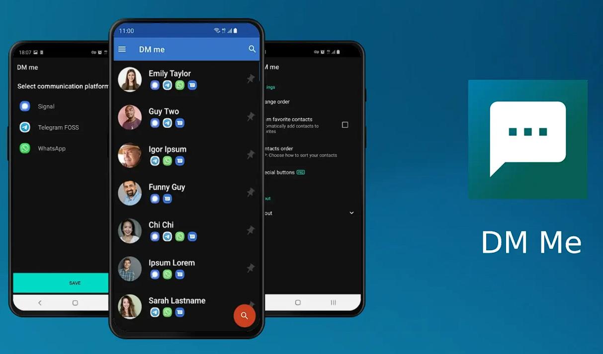 صورة جديد تطبيقات أندرويد DM Me لتحديد التطبيق المناسب لإرسال الرسائل تلقائيًا