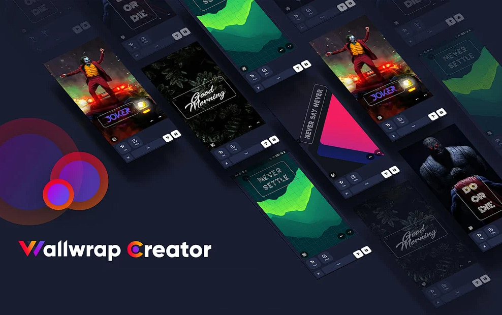 Wallwrap is an Android app that provides you with 4K wallpapers and even creation
