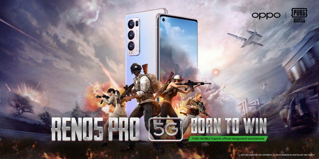 أوبو رينو5 برو يصبح الشريك الرسمي للهواتف الذكية لموسم ألعاب ببجي موبايل 2021 بالمنطقة