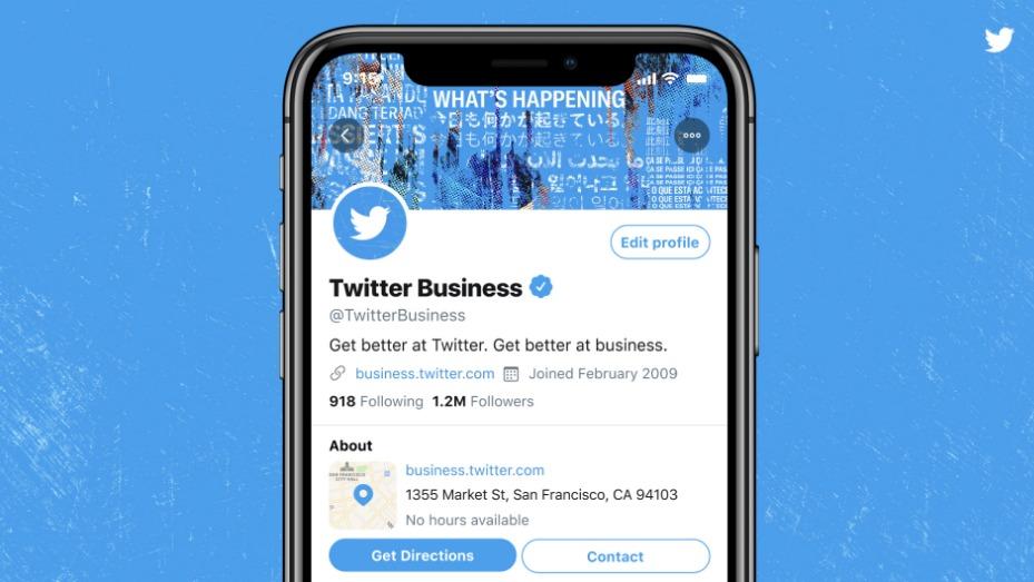 تويتر تختبر إضافة قسم معلومات خاص لحسابات أصحاب الأعمال والشركات