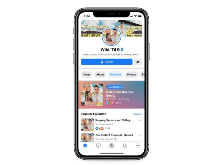 فيس بوك تعمل على تطوير خدمة بودكاست داخل تطبيقها - Facebook Podcast