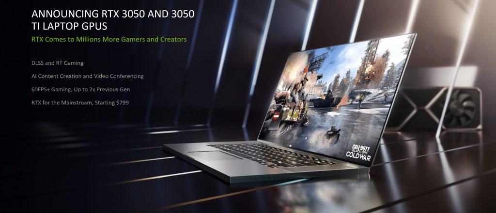إنفيديا تكشف عن GeForce RTX 3050 و 3050 Ti للأجهزة منخفضة السعر