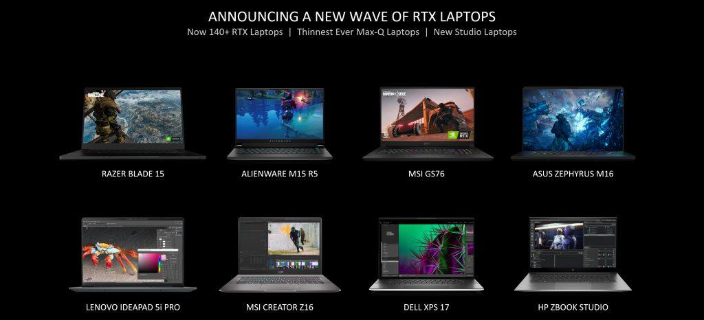 الأجهزة التي ستوفر معالجات إنفيديا GeForce RTX 3050 و 3050 Ti
