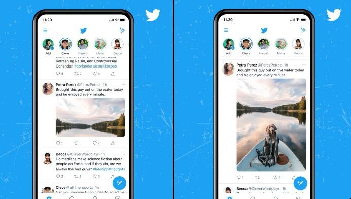 تويتر تتيح عرض الصور بالحجم الكامل على الصفحة الرئيسية