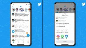 تويتر تسمح بمشاركة التغريدات مباشرة على قصص انستجرام