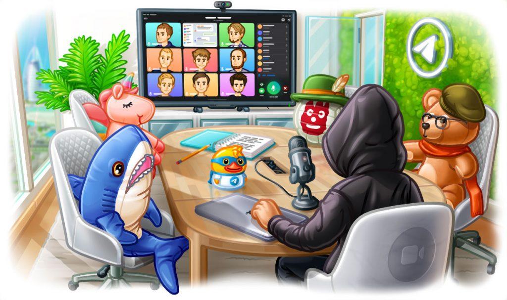 تيليجرام تضيف مكالمات الفيديو للمجموعات وخاصية مشاركة الشاشة