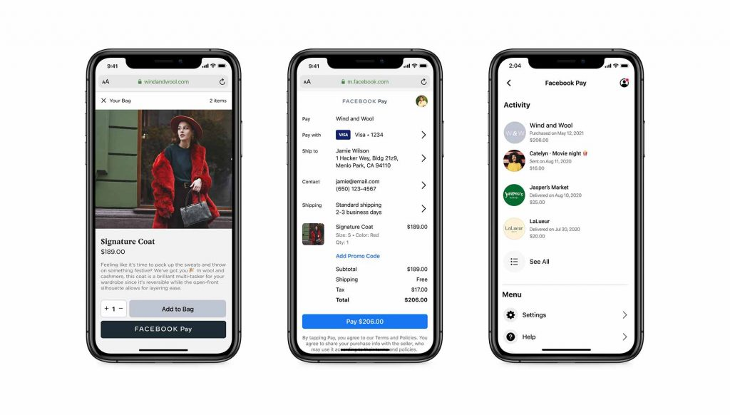 فيس بوك تتيح خدمة الدفع Facebook Pay على المتاجر الأخرى