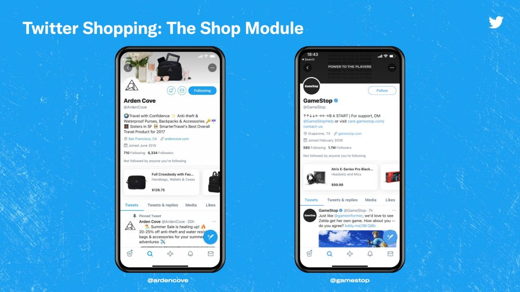 تويتر تختبر خاصية تسوق جديدة للعلامات التجارية