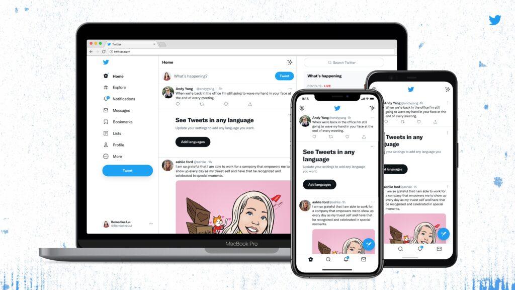 تويتر تعيد تصميم واجهة المستخدم مع أول خط من تصميم الشركة0