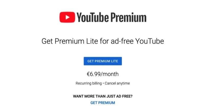 يوتيوب تعمل على اشتراك Premium Lite يقوم بحذف الإعلانات فقط