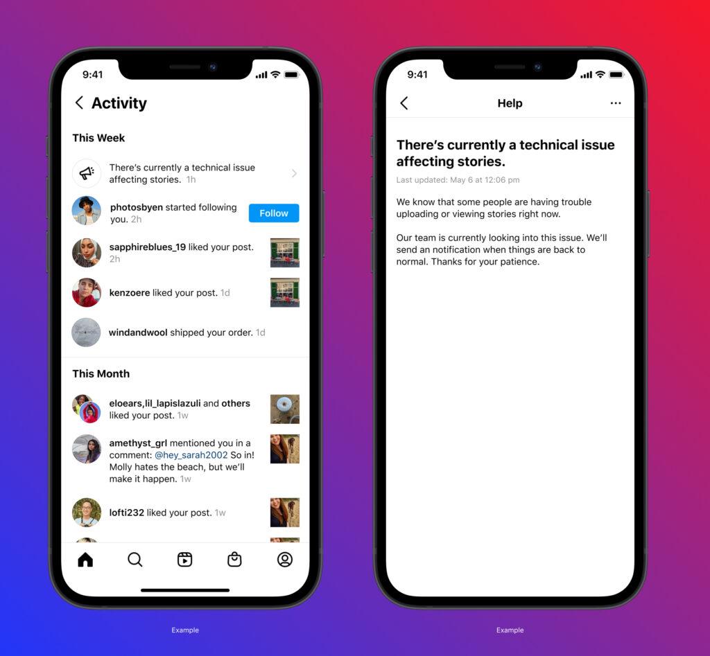تطبيق انستجرام سينبه المستخدمين في حال توقف الخدمة thumbnail