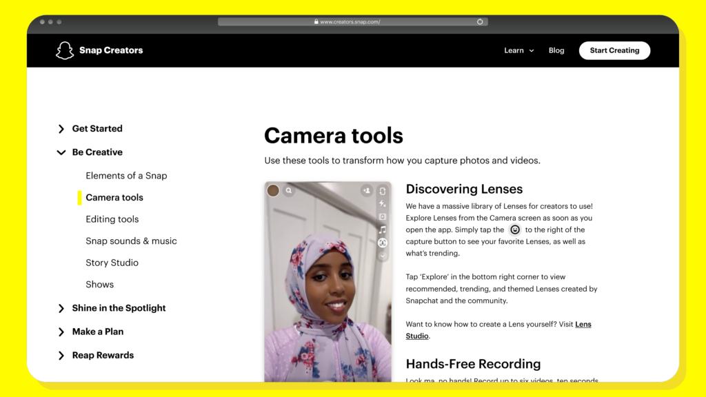 """سناب تطلق """"مركز صانعي المحتوى"""" لتمكين الجمهور من استخدام التطبيق باحترافية thumbnail"""