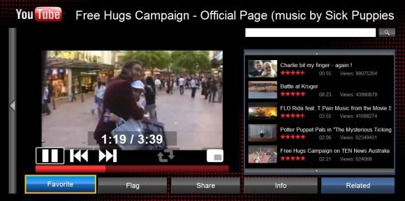 نسخة من موقع Youtube للشاشات الكبيرة